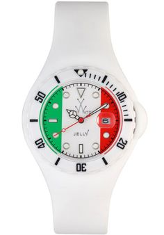 ToyWatch Jelly Flag France Only Time Unisex Plasteramic & White Rubber Watch Cool Watches, Watches For Men, Mens World Cup, Toywatch, Watch Brands, Plastic Case, Accessories Shop, Quartz, Unisex