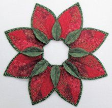 Poinsettia Fold'n Stitch Leaf Topper Kit
