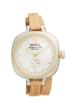 Shinola - Detroit 'The Gomelsky' Leather Strap Watch, 36mm | Nordstrom