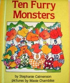 Ten Furry Monsters Stephanie Calmenson 1980s Parents Magazine LoveVintageAlways