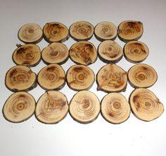 Wood slices wood discs natural pine tree round wood by NayasArt