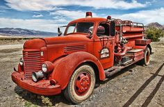 vintage fire truck photo