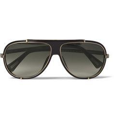 Lanvin Metal and Acetate Aviator Sunglasses | MR PORTER