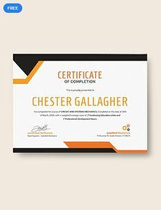 Free Graduation Certificate Certificate Certificate Templates