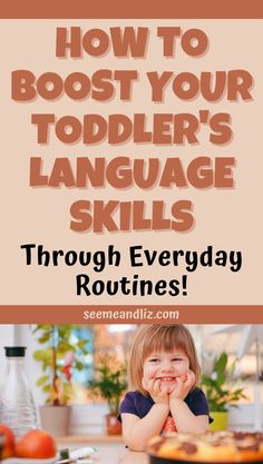 Toddler language development activities are best done naturally. Here are some ways you can help boost your toddler's language development through everyday routines! No worksheets or flashcards are needed. Language Activities, Infant Activities, Toddler Language Development, Toddler Preschool, Speech And Language, Worksheets, Routine, Parenting, Teacher