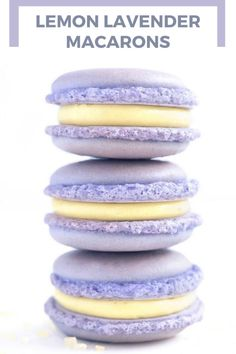 These Lemon Lavender Macarons are so easy and tasty. The buttercream filling recipe is the perfect combination of tangy and sweet flavors in two perfect and delicate bites. Mocha Cupcakes, Chocolate Buttercream Frosting, Strawberry Cupcakes, Velvet Cupcakes, Vanilla Cupcakes, Lemon Recipes, Baking Recipes, Cookie Recipes, Baking Ideas