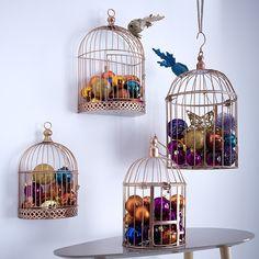 Luminaire cage oiseau id e d co noel for Oiseau decoration jardin