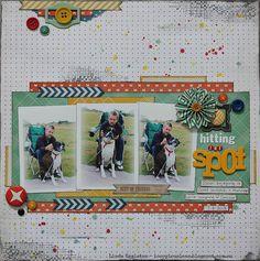 "Scrapbooking Memories Vol. :) ""Sugar & Spice"" Scrapbooking Memories Vol. 2 - Page 37 ""Thi. Dog Scrapbook, Scrapbook Sketches, Scrapbook Page Layouts, Scrapbook Paper Crafts, Scrapbook Cards, Scrapbooking Ideas, Picture Layouts, Multi Photo, 3 Picture"