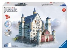 Ravensburger Neuschwanstein 216 Piece Jigsaw Puzzle for Kids and Adults - Easy Click Technology Means Pieces Fit Together Perfectly Ravensburger Puzzle, Buckingham Palace, Aqua Doodle, 3d Puzzel, Jigsaw Puzzles For Kids, Neuschwanstein Castle, Construction, Famous Landmarks, Shopping