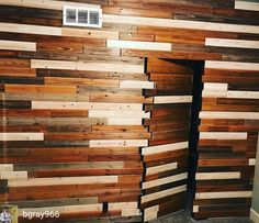 Oh man, @bgray966 is taking the wooden wall to a whole new level. I need this wall and door for the entry to my shop. Don't mind me as I disappear into this wooden wall and go work some wood. Very cool idea!  #youcantseeme #hiddendoors #fixthisbuildthat