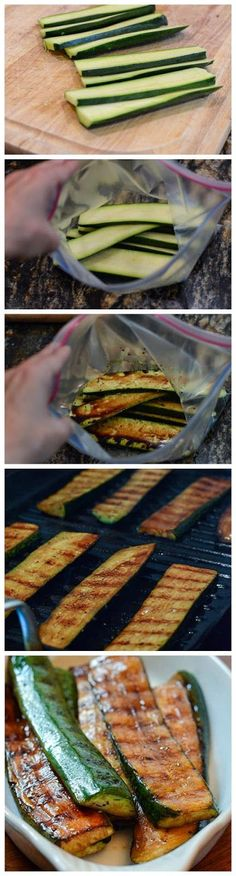 Balsamic Grilled Zucchini - Minus the sugar of course  #cgnutritionchallenge