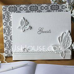 [£20.00] Butterfly Design Rhinestones Guestbook