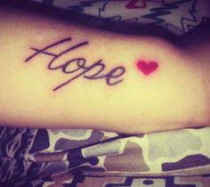 Hope ♡ / tattoo :)