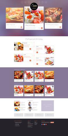 Restaurant webdesign - #webdesign #flatdesign #creative #inspiration