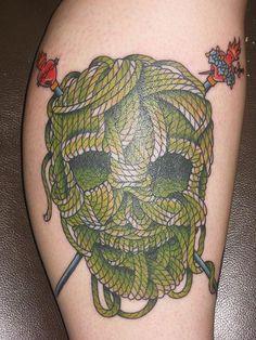 knitting skull and crossbones tattoo