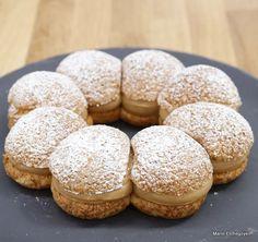 Paris-Brest - Philippe Conticini - - Pâte à choux, crumble sur la pâte à choux, crème « mousseline » au praliné, cœur coulant de praliné