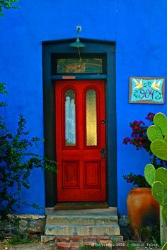 Tucson Bario. Doors GaloreSouthwest StylePainted DoorsRed ...