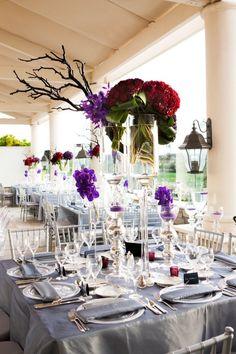 A Regally Modern California Wedding from Goddard Studios - wedding centerpiece idea