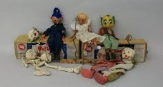 A lovely old bunch of Pelham puppets. Apart from the clown.