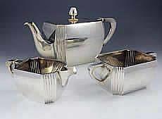 Austrian silver tea set art deco