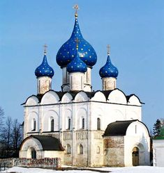 Nativity Cathedral in Suzdal.  7 ancient churches in Suzdal