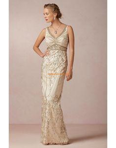 Unique Luxuriöse Brautkleider aus Softnetz mit Pailette