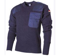 warmer BW Pullover, blau für kalte Herbstage / mehr Infos auf: www.Guntia-Militaria-Shop.de