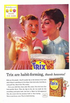 Trix Cereal (1957) {It's A Good Thing We No Longer Use Babies To Sell Cigarettes, Cellophane, Sugar & Soda.Commercials That you Will Never See Again}