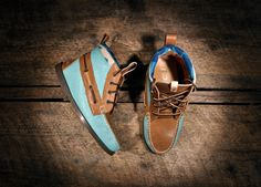 hightop leather boat shoes.