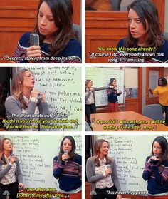 Parks and Recreation Season Five Episode 16: Bailout. April, Ann, and Donna singing Time After Time.