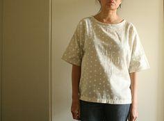 polka dot blouse.