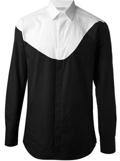 Original bicolor shirt by NEIL BARRETT. #inspiration #black&white