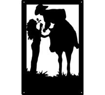 Wall Art Silhouette Sign Romantic Cowboy and Cowgirl Couple from Artisan Metal Shop. Shared via sharexy.com country couple, cowboy cowgirl, art, western