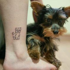 14 Yorkshire Terrier Tattoos That Make You Wanna Do Some For Yourself Tribal Tattoos, Tattoos Skull, Dog Tattoos, Tatoos, Mini Tattoos, Small Tattoos, Positive Dog Training, Basic Dog Training, Training Your Puppy