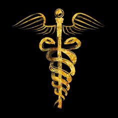 """""""Caduceus Symbol - Gold Edition"""" Posters by Lidra 