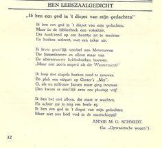 Een leeszaalgedicht - Annie M.G. Schmidt