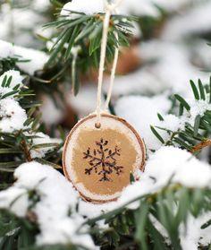 Wood-Burned Snowflak
