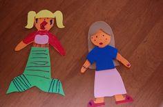 Foam 'paper' dolls - sticks when wet