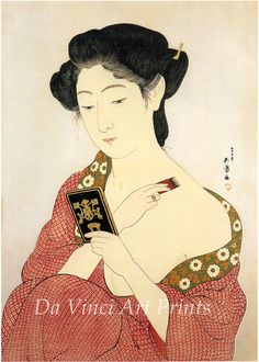 "Japanese Art Print ""Makeup"" by Hashiguchi Goyo, woodblock print reproduction, fine art, asian art, cultural art Modern Prints, Fine Art Prints, Art Asiatique, Art Japonais, Japanese Painting, Japanese Prints, Japanese Design, Japan Art, Museum Of Fine Arts"