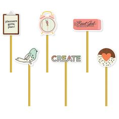 PREORDER - Carpe Diem The Reset Girl Set Of 6 Decorative Paper Page Tabs Clips…