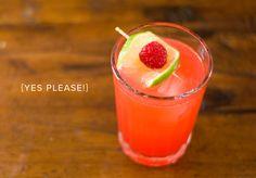 Raspberry, Lime + Gin