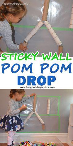 STICKY WALL POM POM DROP – HAPPY TODDLER PLAYTIME