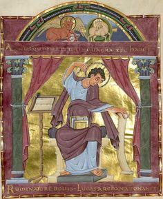 Heinrich : Evangeliar Reichenau, Anfang 11. Jh. Clm 4454  Folio 127v