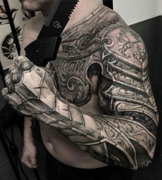 Amazing half chest and sleeve armour piece by John Lewis