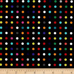 Michael Miller Hello Make A Point! Rainbow from @fabricdotcom  Designed by Susan Emory for Michael Miller, this cotton print fabric features colorful polka dots and is perfect for quilting, apparel and home decor accents. Colors include white, black, grey, red, orange, chartreuse, green and shades of blue.