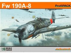 The Eduard Focke-Wulf Fw 190A-8 ProfiPACK Model Kit in 1/48 scale from the plastic aircraft model kits range accurately recreates the real life German fighter aircraft flown during World War II. This Eduard aircraft model requires paint and glue to complete.
