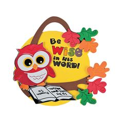 Inspirational Wise Owl Ornament Craft Kit - OrientalTrading.com