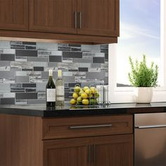 Elida Ceramica 1 Laser Sky Linear Mosaic Glass Wall Tile (Common: 12-in x 13-in; Actual: 11.75-in x 11.75-in)
