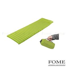 Sleeping Mat FOME Ultralight Inflatable Mat Outdoor Sleeping Pad with Pillow Dampproof Mat Portable Tent Air Mat Mattress Green  FOME Gift >>> Read more reviews of the product by visiting the link on the image.