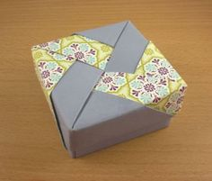 stampin up, origami box